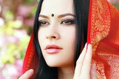 年轻印地安妇女 图库摄影