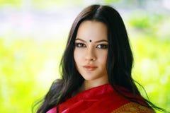 年轻印地安妇女 免版税库存图片