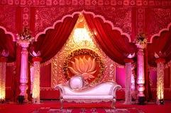 印地安婚礼阶段mandap 免版税库存照片