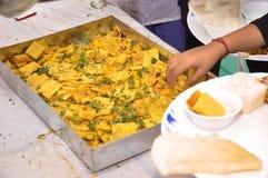 印地安婚礼食物Thokla 库存图片
