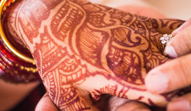 印地安婚姻传统印度手镯 免版税图库摄影