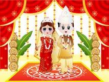 印地安孟加拉婚礼 免版税库存照片
