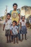 印地安家庭成员 免版税库存图片