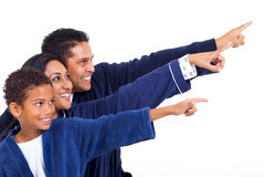 印地安家庭指向 免版税库存照片