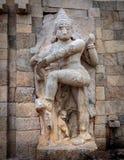 印地安寺庙雕塑,泰米尔纳德邦 免版税库存照片