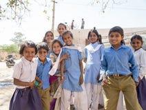 印地安小学生 免版税库存图片