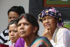印地安尼泊尔妇女 库存照片