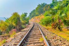 印地安山铁路轨道Vizag印度 免版税库存图片