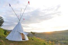 印地安帐篷 库存图片