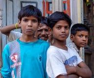 印地安年轻男孩画象  免版税图库摄影