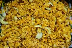 印地安快餐玉米剥落混合物 免版税库存图片
