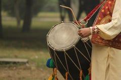印地安文化dhol  库存照片