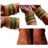 印地安新娘mehndi 免版税图库摄影