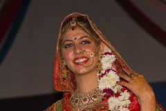 印地安时尚比赛。公平的普斯赫卡尔(普斯赫卡尔骆驼Mela) 库存照片