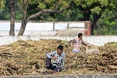 印地安村庄人 库存照片