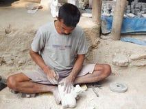印地安村庄工匠 免版税库存图片