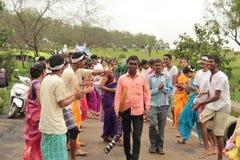 印地安村庄民间舞马戏团 库存图片