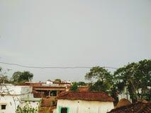 印地安村庄神色 库存图片