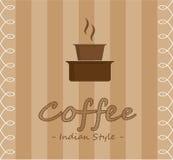 印地安样式咖啡 免版税图库摄影