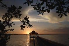 印地安河日出 图库摄影