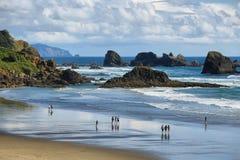 印地安海滩在Ecola国家公园, 库存图片