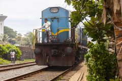印地安火车在斯里兰卡 免版税图库摄影