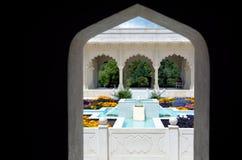 印地安炭灰Bagh庭院在汉密尔顿花园-新西兰 库存照片