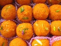 印地安甜点- Boondi Laddoo 库存图片