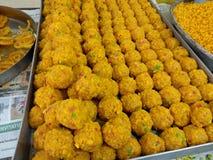 印地安甜点laddo 免版税库存图片