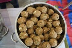 印地安甜Laddu 免版税库存照片