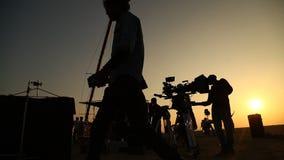 印地安电影工作人员在沙漠 影视素材