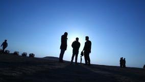 印地安电影工作人员在沙漠 股票视频