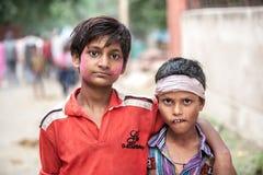 印地安男孩画象  免版税图库摄影