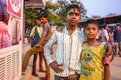 年轻印地安男孩 免版税库存图片