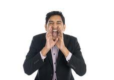 印地安男性呼喊 免版税库存图片