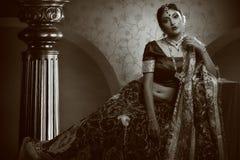 印地安皇家新娘 库存图片