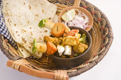 印地安盘Kathi Kebab 图库摄影