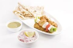 印地安盘Kathi Kebab 免版税库存照片