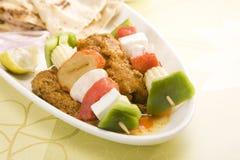 印地安盘Kathi Kebab 免版税库存图片