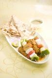 印地安盘Kathi Kebab 库存照片