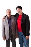 印地安祖父和孙子 免版税库存图片