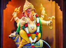 印地安神Ganesh的雕象 库存照片