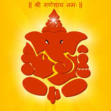 印地安神ganesha, Ganesh在充满活力的颜色的chaturthi卡片 库存照片