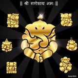 印地安神ganesha, Ganesh神象 免版税库存照片