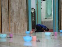 印地安粥Pekojan清真寺 免版税库存照片