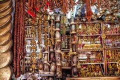 印地安纪念品在市场上 图库摄影