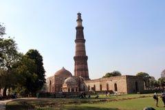 印地安纪念碑minar的Qutub 免版税图库摄影