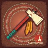 印地安美国印第安战斧 图库摄影