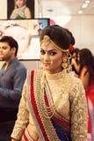 印地安美好的时装模特儿(新娘神色) 库存图片