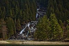 印地安胳膊瀑布,不列颠哥伦比亚省,加拿大 免版税库存图片
